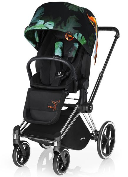 Cybex 2017 / 2018 Priam Lux Trekking Stroller - Birds of Paradise/Chrome