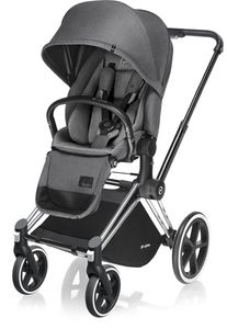 Cybex 2017 / 2018 Priam Lux Trekking Stroller - Chrome / Manhattan Grey
