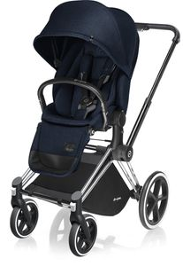 Cybex 2017 / 2018 Priam Lux Trekking Stroller - Chrome / Midnight Blue