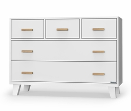 dadada Boston 5-Drawer Dresser - All-White