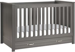 DaVinci Asher 3-in-1 Convertible Crib with Toddler Bed Conversion Kit in Slate Crib Two Beds