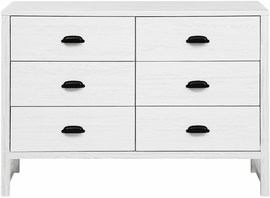 DaVinci Fairway 6-Drawer Double Dresser - Rustic White