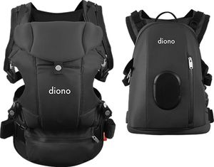 Diono Carus Complete 4-in-1 Baby Carrier + Detachable Backpack - Dark Grey