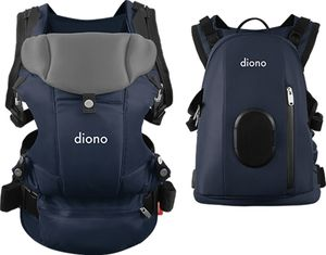 Diono Carus Complete 4-in-1 Baby Carrier + Detachable Backpack - Navy