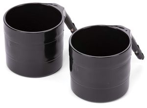Diono Cup Holder for Radian, Everett and Rainier Car Seats, Black (2 Pack)