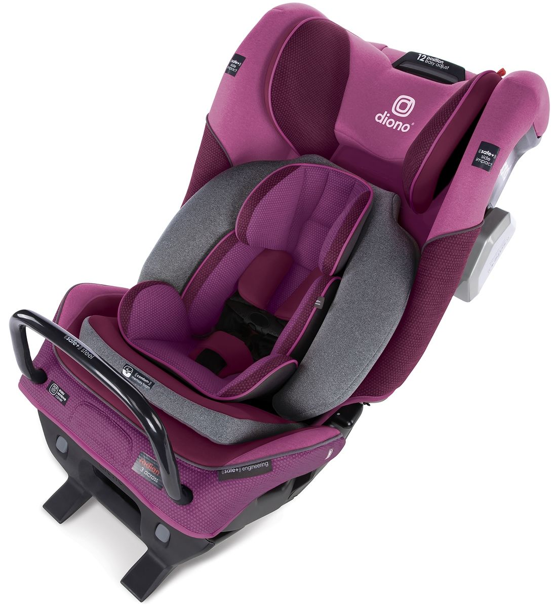 Diono Radian 3QXT Ultimate 3 Across All-in-One Convertible Siège Voiture Violet Prune