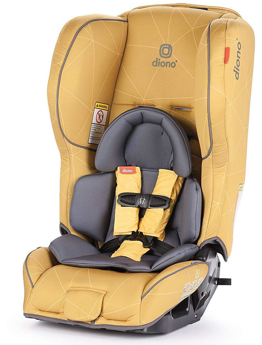 Diono Ranier 2 AX Convertible + Booster Car Seat - Yellow...