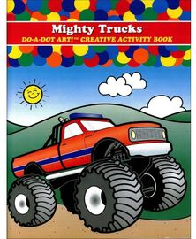 Do A Dot Art Creative Activity Book - Mighty Trucks