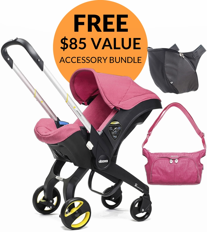 Doona Infant Car Seat Accessory Bundle Sweet Pink