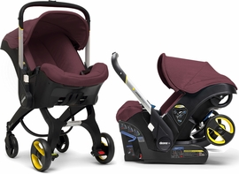 Doona Infant Car Seat & Stroller - Cherry (Burgundy)