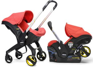 Doona Infant Car Seat & Stroller - Love (Red)