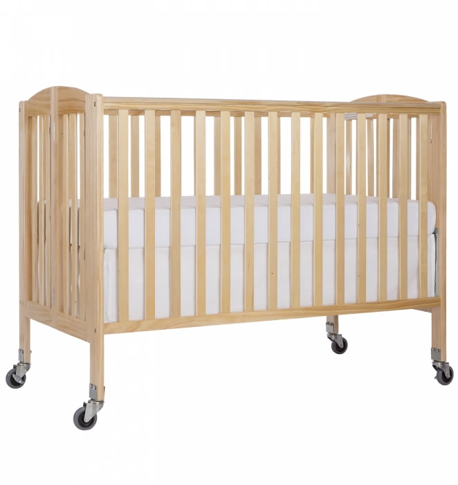 Dream On Me Folding Full Size Convenience Crib Natural