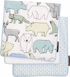 DwellStudio Caravan 2 Pack Burp Cloth Set