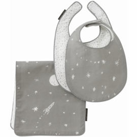 DwellStudio Galaxy Dusk Bibs & Burp Set