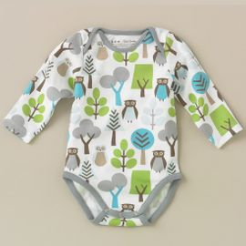 DwellStudio Owls Sky Long Sleeve Bodysuit 6-12 Mo.
