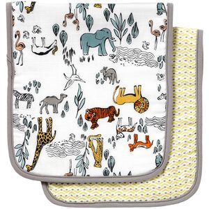 DwellStudio Safari Burp Cloth - Set of 2