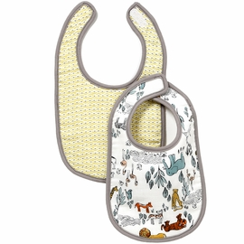 DwellStudio Safari Muslin Bibs - Set of 2