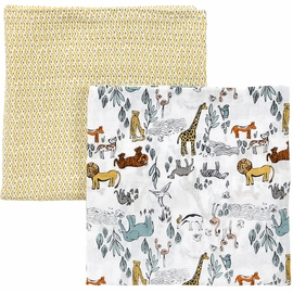 DwellStudio Safari Swaddle Blankets - Set of 2