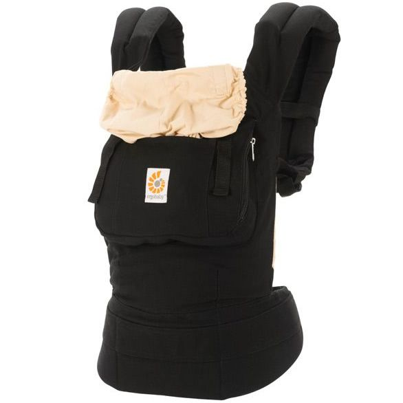 Black Camel Ergobaby Three Position Original Adjustments Baby Carrier,One Size