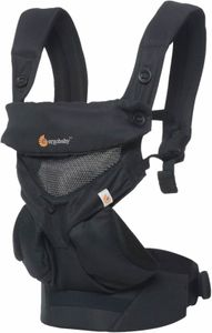 Ergobaby 360 Four Position Baby Carrier - Cool Air - Onyx Black
