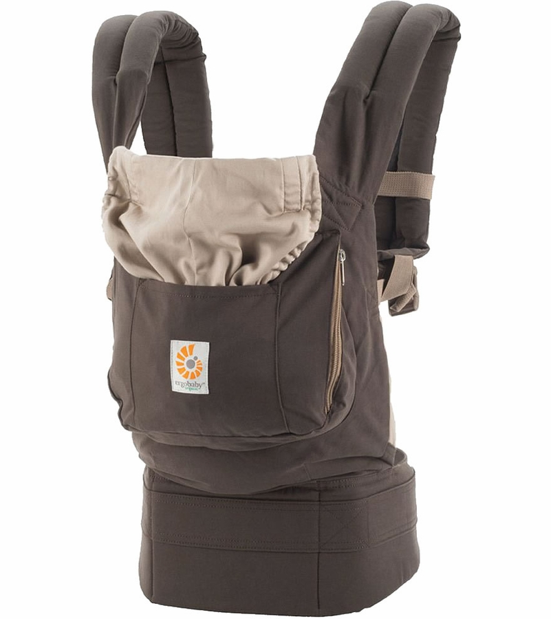 Ergobaby teething pads shoulder strap protector Organic natural 2 pieces Aussie Khaki