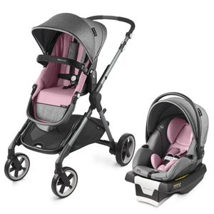 Evenflo GOLD SensorSafe Pivot Xpand Smart Modular Travel System with SecureMax Smart Infant Car Seat - Opal Pink