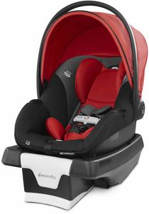 Evenflo GOLD SensorSafe SecureMax Infant Car Seat with SafeZone Load Leg - Garnet Red