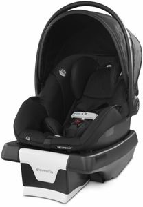 Evenflo GOLD SensorSafe SecureMax Infant Car Seat with SafeZone Load Leg - Onyx Black