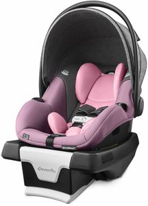 Evenflo GOLD SensorSafe SecureMax Infant Car Seat with SafeZone Load Leg - Opal Pink