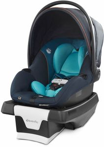Evenflo GOLD SensorSafe SecureMax Infant Car Seat with SafeZone Load Leg - Sapphire Blue