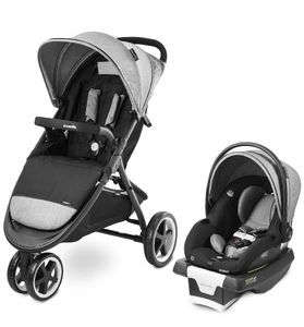 Evenflo GOLD SensorSafe Verge3 Smart Travel System with SecureMax Smart Infant Car Seat - Moonstone Gray