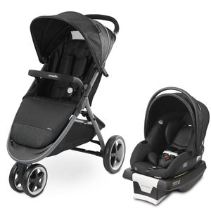 Evenflo GOLD SensorSafe Verge3 Smart Travel System with SecureMax Smart Infant Car Seat - Onyx Black