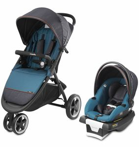 Evenflo GOLD SensorSafe Verge3 Smart Travel System with SecureMax Smart Infant Car Seat - Sapphire Blue