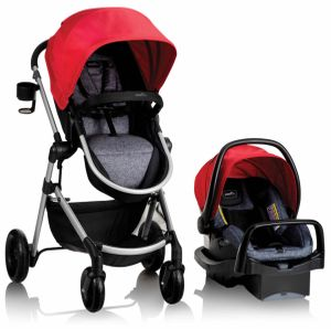 Evenflo Pivot Modular Travel System With Safemax Infant Car Seat - Salsa