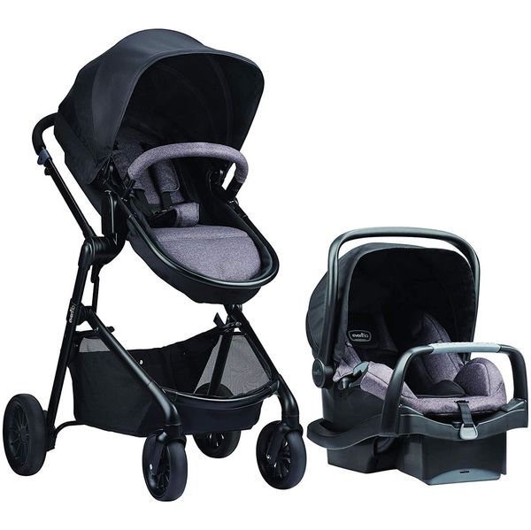 Evenflo Pivot Travel System with SafeMax Infant Car Seat - Casual Gray