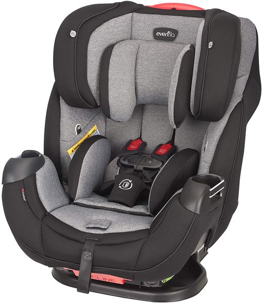 Evenflo Platinum Symphony DLX All-in-One Convertible Car Seat - Ashland Gray