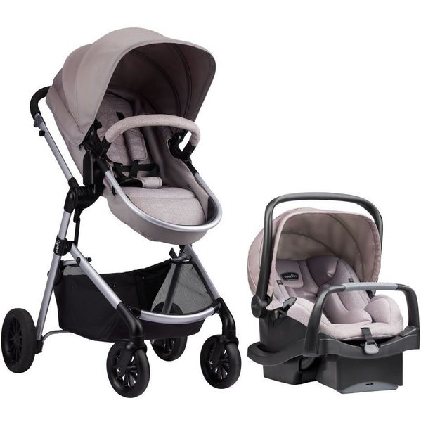 Evenflo Pivot Travel System with SafeMax Infant Car Seat - Sandstone