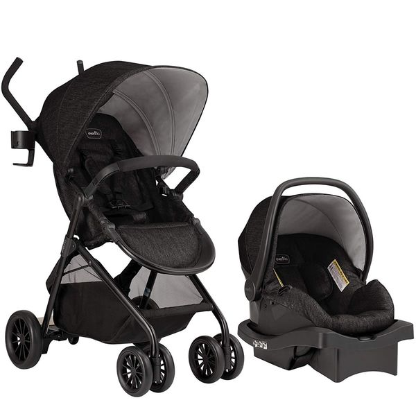 Evenflo Sibby Travel System with LiteMax 35 Infant Car Seat - Charcoal
