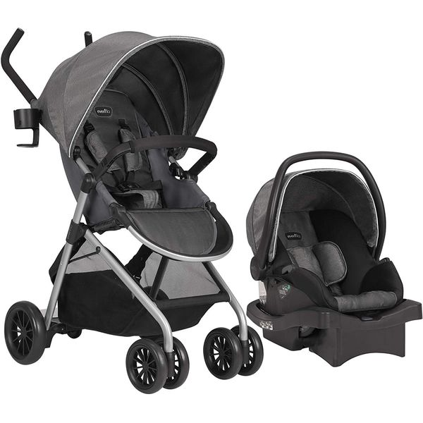 Evenflo Sibby Travel System with LiteMax 35 Infant Car Seat - Highline Gray