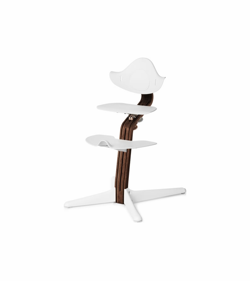Superb Nomi High Chair Premium Walnut White Caraccident5 Cool Chair Designs And Ideas Caraccident5Info
