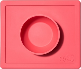 EZPZ Happy Mat Placemat & Bowl - Coral