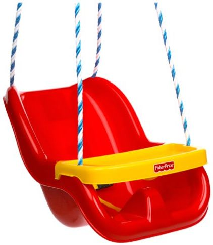 Fisher Infant To Toddler Swing In Red, Toddler Outdoor Swing Seat