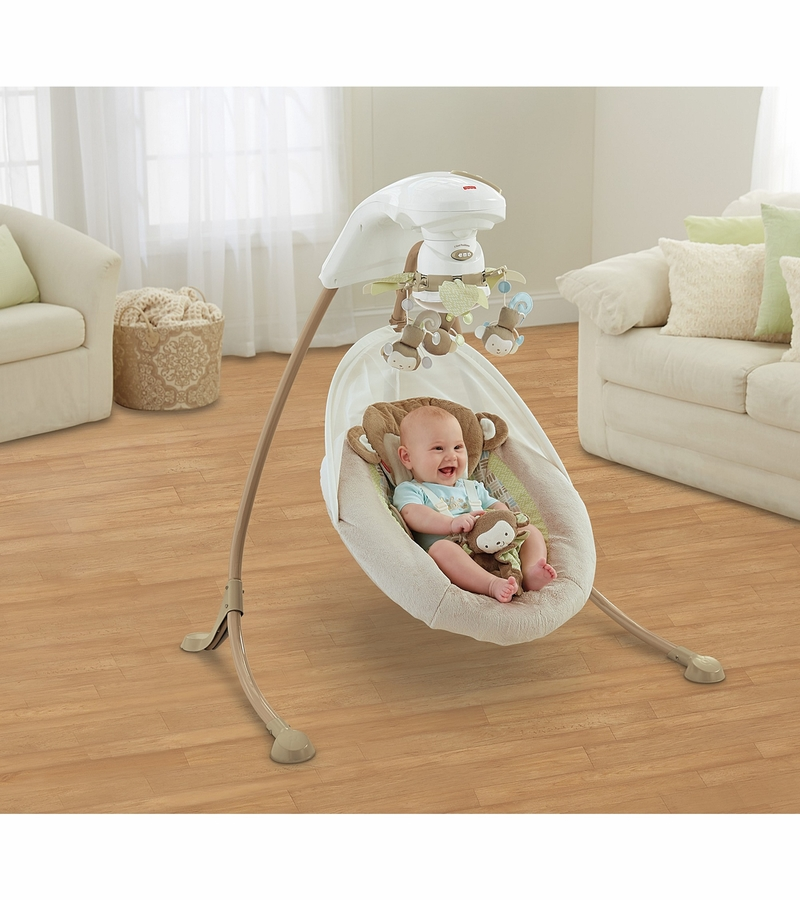 Fisher Price My Little Snugamonkey Special Edition Cradle N Swing
