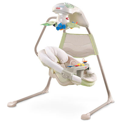 Fisher Price Natures Touch Baby Papasan Cradle Swing