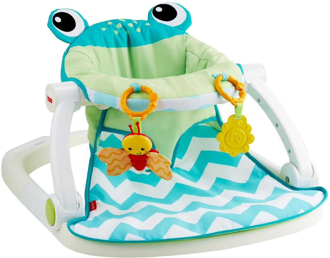 acbf2abf5 Fisher-Price Sit-Me-Up Floor Seat - Citrus Frog