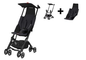 GB Pockit GO Ultra Compact Lightweight Stroller - Satin Black