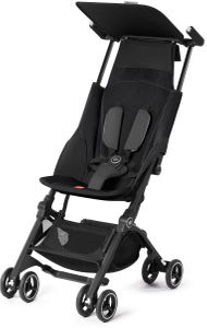GB Pockit Plus Ultra Compact Lightweight Stroller - Monument Black