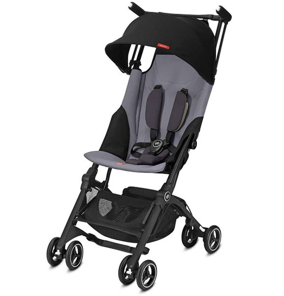 GB Pockit Plus Ultra Compact Lightweight Stroller - Silver Fox Grey (Albee Exclusive)