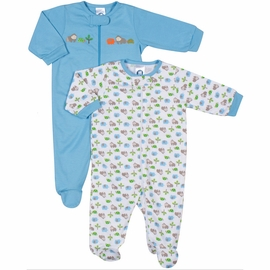 Gerber Boy 2 Pack Zip Front Sleep 'N Play Footie - 6 to 9 Months