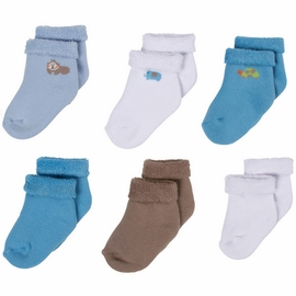 Gerber Boy 6 Pack Variety Socks - 3 to 6 Months
